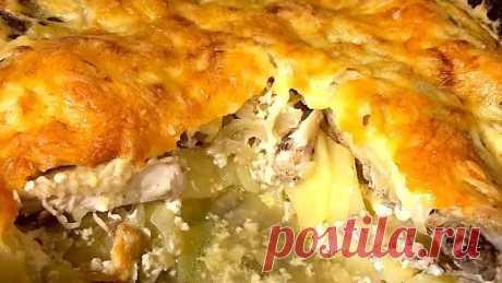 Картофельная запеканка с курицей! Вкусно, сытно и выгодно!