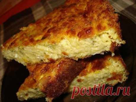 Запеканка из кабачков с сыром Ингредиенты: кабачка 3 средних (800г мякоти б...