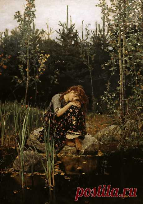 Алёнушка. 1881. Холст, масло (картина) — Виктор Васнецов
