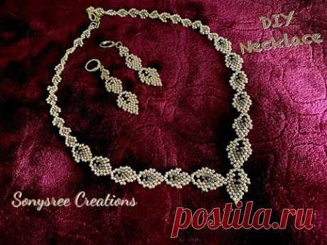 DIY Gold Necklace || Beaded Necklace || collar de cuentas || boncuklu kolye ||Perlenkette