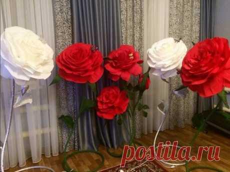 Из чего делают ростовые цветы, красивые и нежные букеты