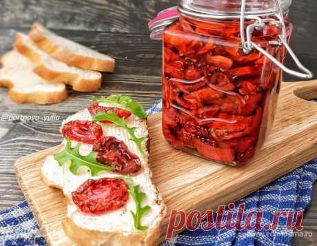 Вяленые томаты. Ингредиенты: помидоры, соль, сахар