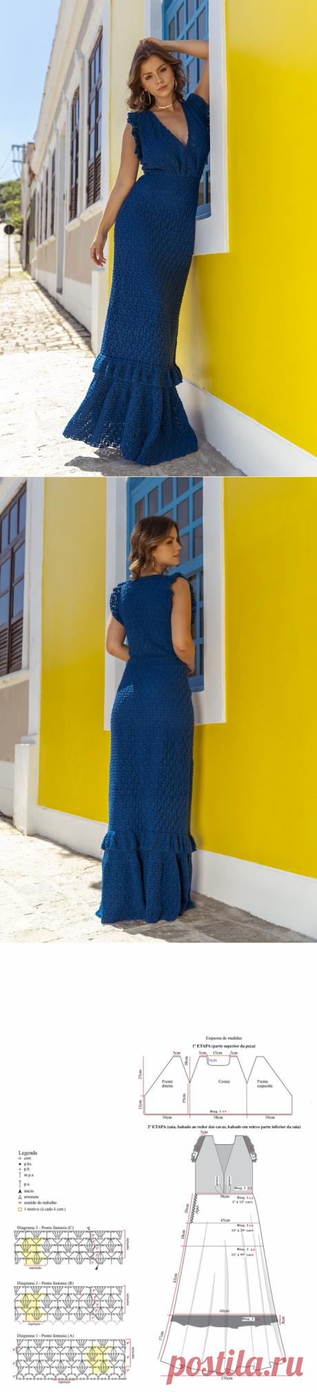 Эксклюзивное платье, связанное крючком | ВЯЗАНИЕ СПИЦАМИ И КРЮЧКОМ | Яндекс Дзен