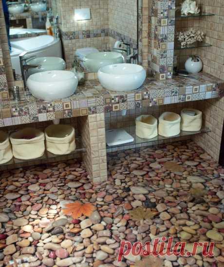 Наливной пол в ванной: фото полимерных полов в интерьере, какой лучше выбрать