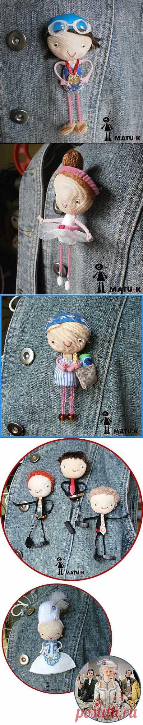 Flickr: Забавные куклы-брошки мастерицы MATU-K