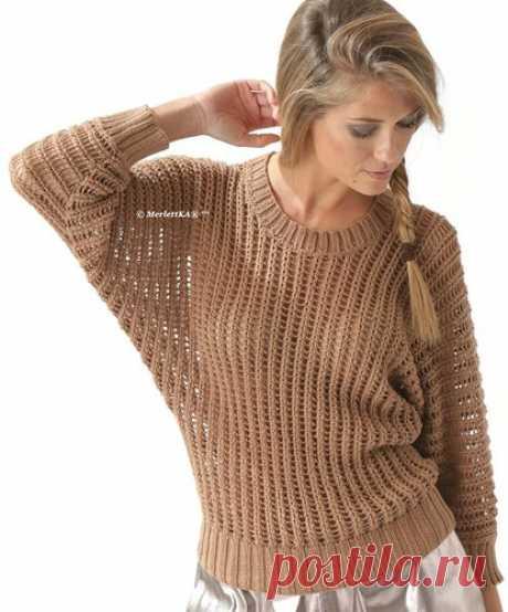 Вязание спицами - летний пуловер