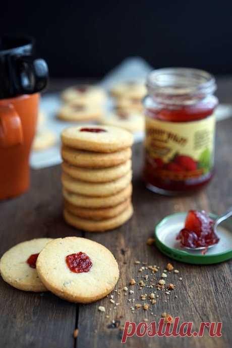 Песочное печенье с джемом | Andy Chef (Энди Шеф) — блог о еде и путешествиях, пошаговые рецепты, интернет-магазин для кондитеров |