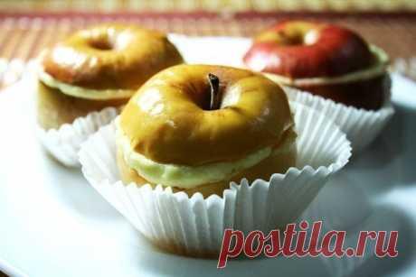 Запеченные яблоки с творожно-ванильным кремом — Мегаздоров