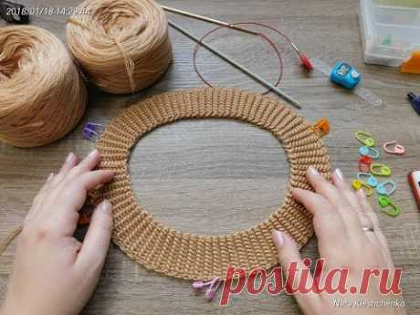 The TUNISIAN KNITTING * a pattern an elastic band from two hanks *