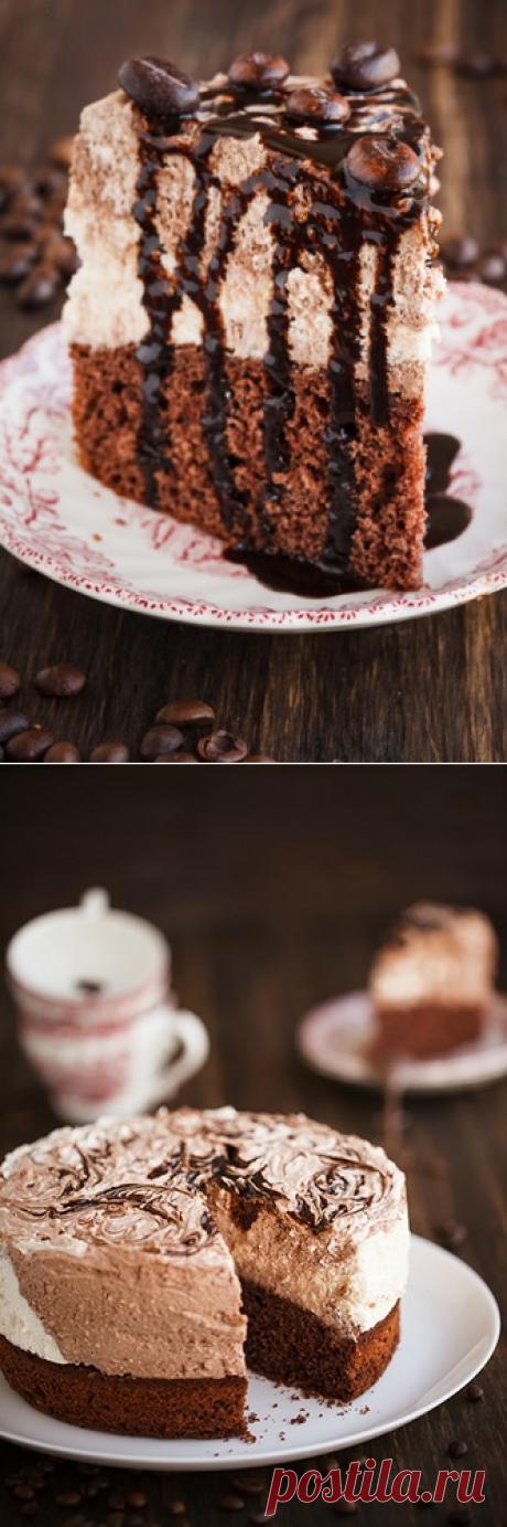 """Торт """"Зебра"""" с творожно-кофейным кремом - в поисках ВКУСОВЫХ ощущений......"""