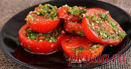 ¡Los tomates en coreano – la colación simple, fresca y perfumada al shashlik!