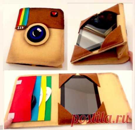 Haz tu propia funda vintage para tablet o ipad inspirada en el logo de Instagram | Manualidades