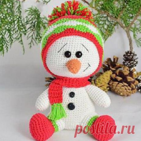 1000 схем амигуруми на русском: Снеговичок амигуруми