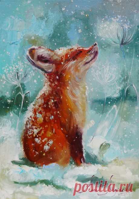 Иллюстрация Снежный и рыжий. Аннет Логинова