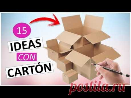 15 Manualidades FÁCILES Y RÁPIDAS con cartón (RECICLAJE)