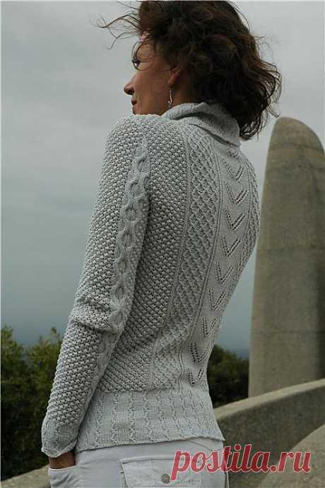 Вязаный женский винтажный пуловер из Vogue.