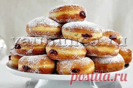 Пончики с вареньем рецепт
