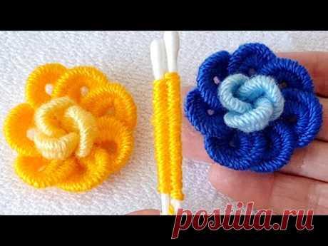 kulak çöpü ile muhteşem gül yapımı Rose flomer crochet