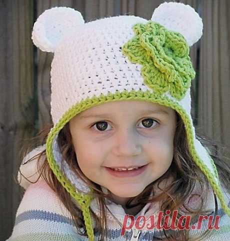 Поиск на Постиле  шапка крючком с ушками aabab727f4c33