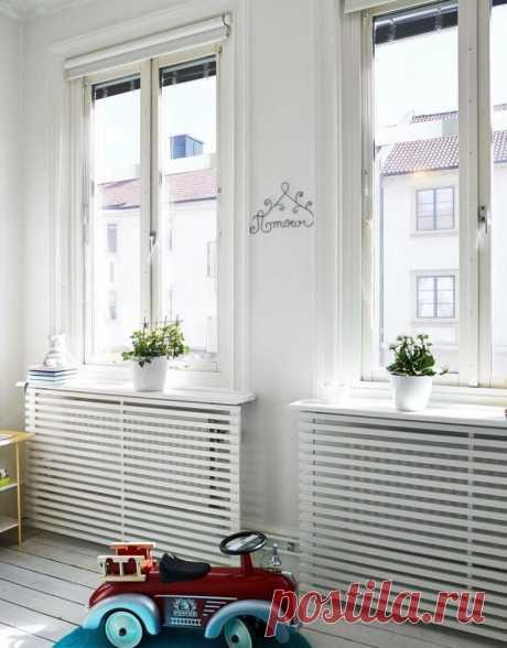 45 идей для декорирования батарей отопления, или Как «замаскировать» радиаторы отопления дома, чтобы не мозолили глаза | Журнал Ярмарки Мастеров