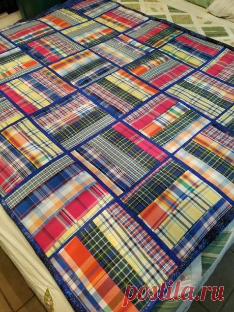 Лоскутное одеяло из мужских рубашек. Схемы сборки. Идеи для воплощения! | Юлия Жданова | Яндекс Дзен