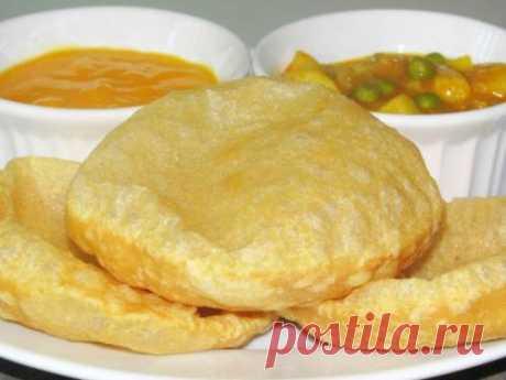 Индийские воздушные «Пури». Постное блюдо