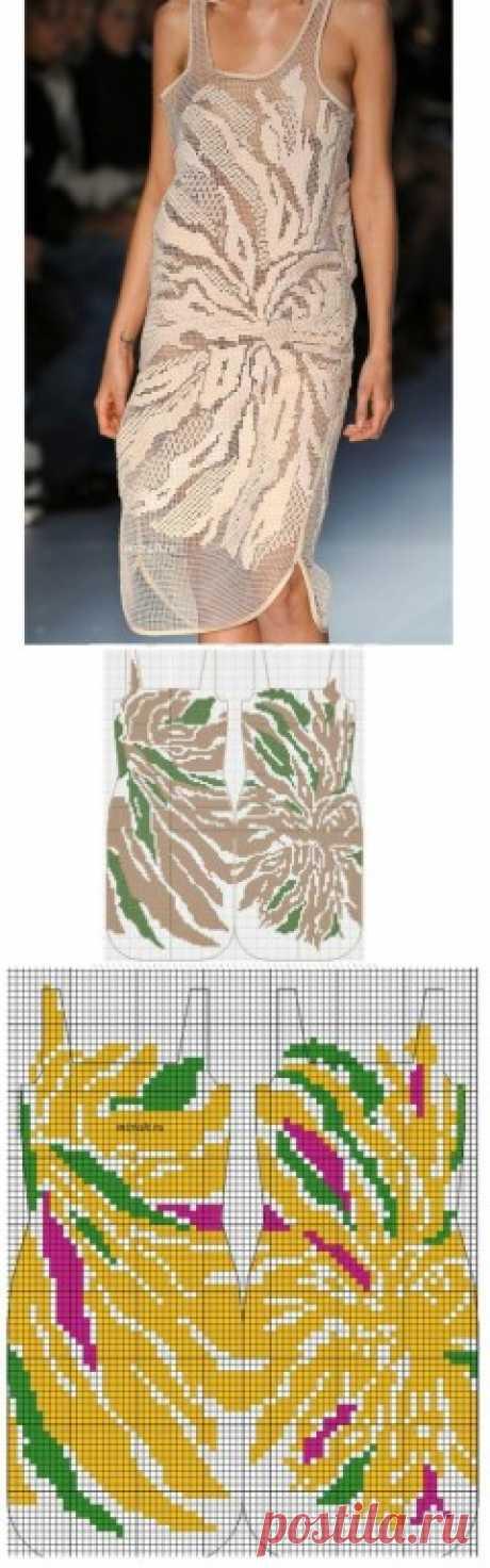Схемы моделей для вязания в филейной технике