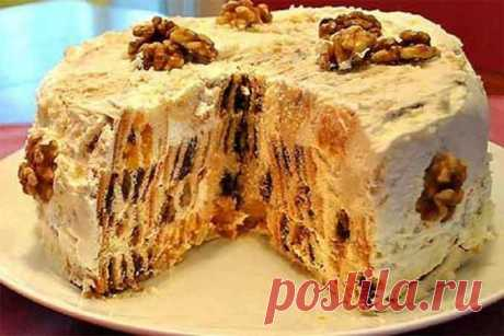 """Домашний торт """"Трухлявый пень"""": простой рецепт приготовления"""