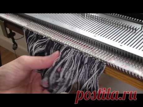 machine knitting - fringing - YouTube