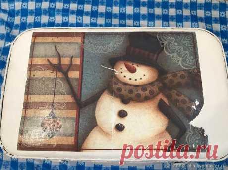 Переделываем старый чемодан в новогодний чемодан для елочных игрушек