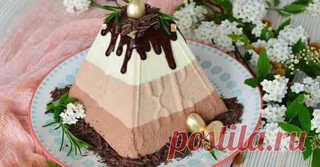 Пасха «Три шоколада». Нежнейший десерт без выпечки, яиц