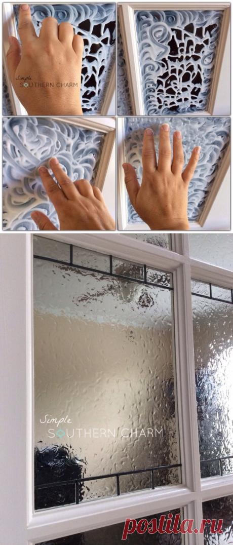 Необычное украшение стекла