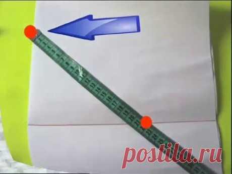 Как построить выкройку для вязания? 2 ВИДЕО. Вязание спицами - YouTube
