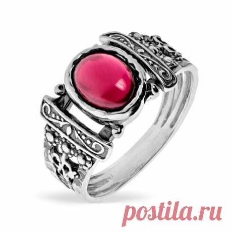 Серебряное кольцо Yaffo с гранатом SAR1379 - Женские украшения