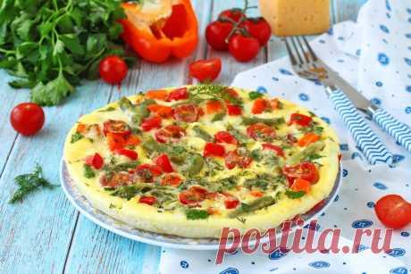 Омлет с овощами сыром и зеленью на сковороде рецепт с фото пошагово - 1000.menu