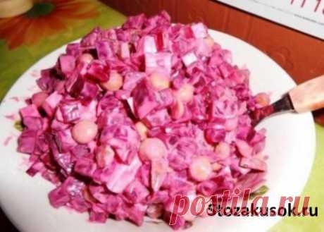 Виолетта салат из свеклы огурцов и плавленым сырком