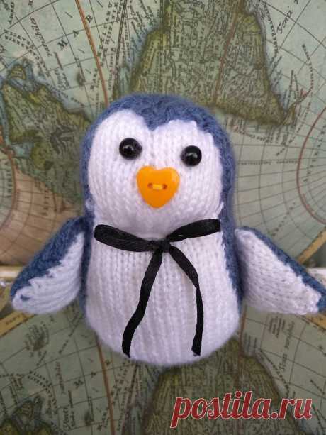 Пингвин. Вязаные игрушки - подарок любимым.
