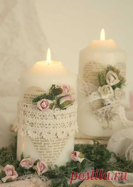 Как сделать декоративную свечу. Как изготовить декоративные новогодние свечи своими руками.