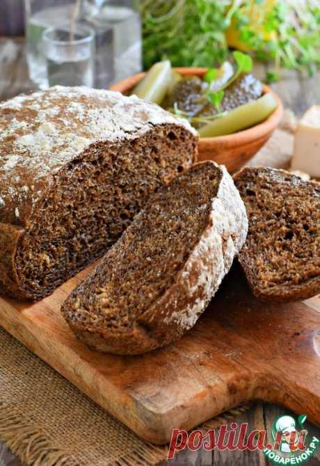 Домашний черный хлеб на солоде – кулинарный рецепт