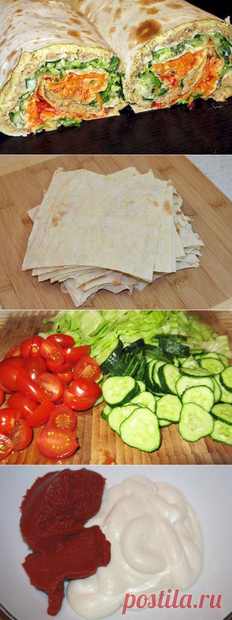Лаваш с овощами Хозяйка.ru