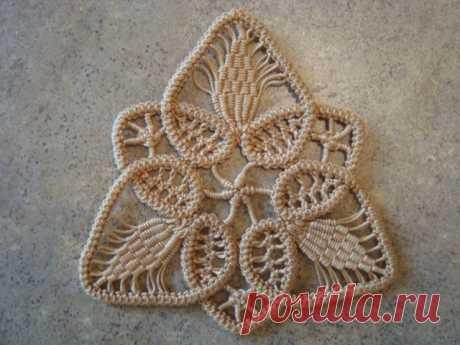 Detailed master class. Romanian (shnurkovy) lace.