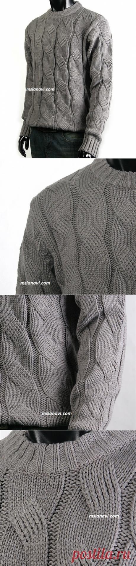 Вязание от Lana Vi Knitting Tricot. Мужской пуловер.