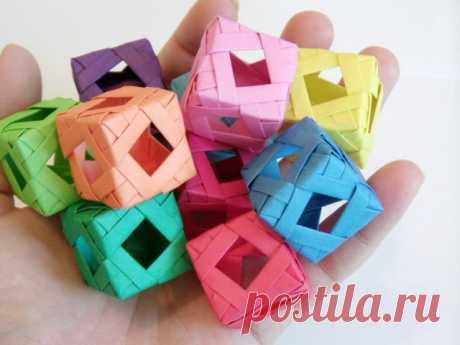 Алмазный оконный куб (модульное оригами): 3 шага (с изображениями)