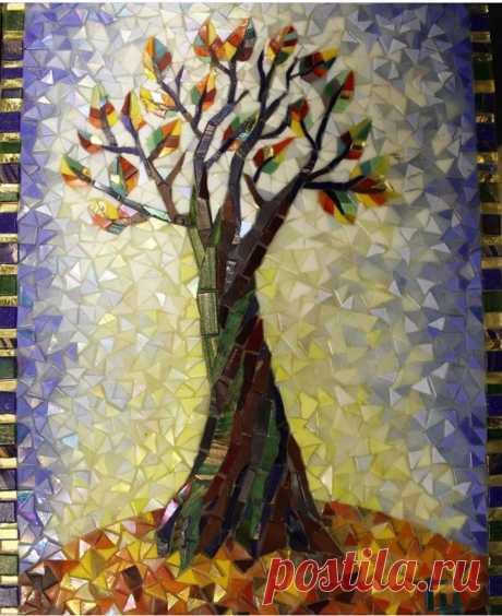 Панно из мозаики Автор @nadya_saen_mosaicart