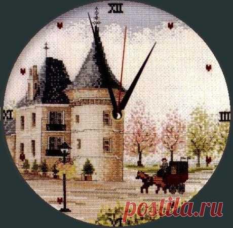 Часы. Английский стиль   Схема вышивки   Скачать