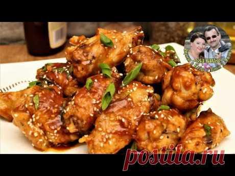 Вкусные куриные крылышки на сковородке за 20 минут.  Остановиться невозможно. Как же это вкусно.