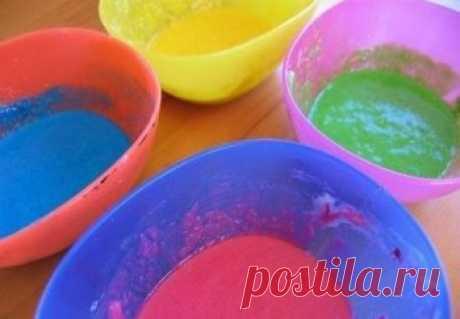Делаем в домашних условиях объемные краски для детей | Своими руками