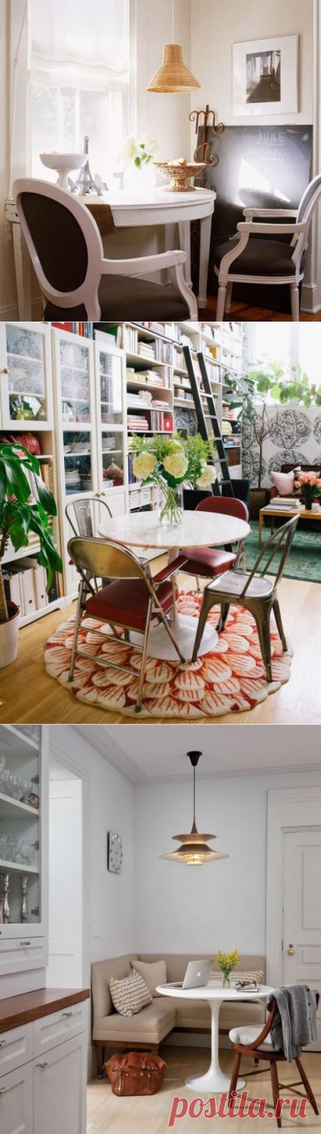 Столовая в маленькой квартире: 6 потрясающих идей и 25 очаровательных примеров