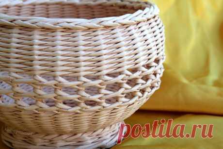 Ажурная вазочка для фруктов. Плетение из бумаги | oblacco
