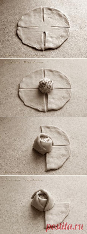 Мастер - класс: Дрожжевые сырные розочки своими руками